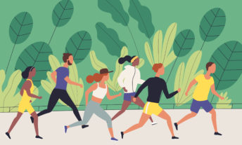 people on a run