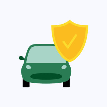 Car insurance concept, car protection, business concept vector illustration